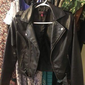 Black Moto faux leather jacket